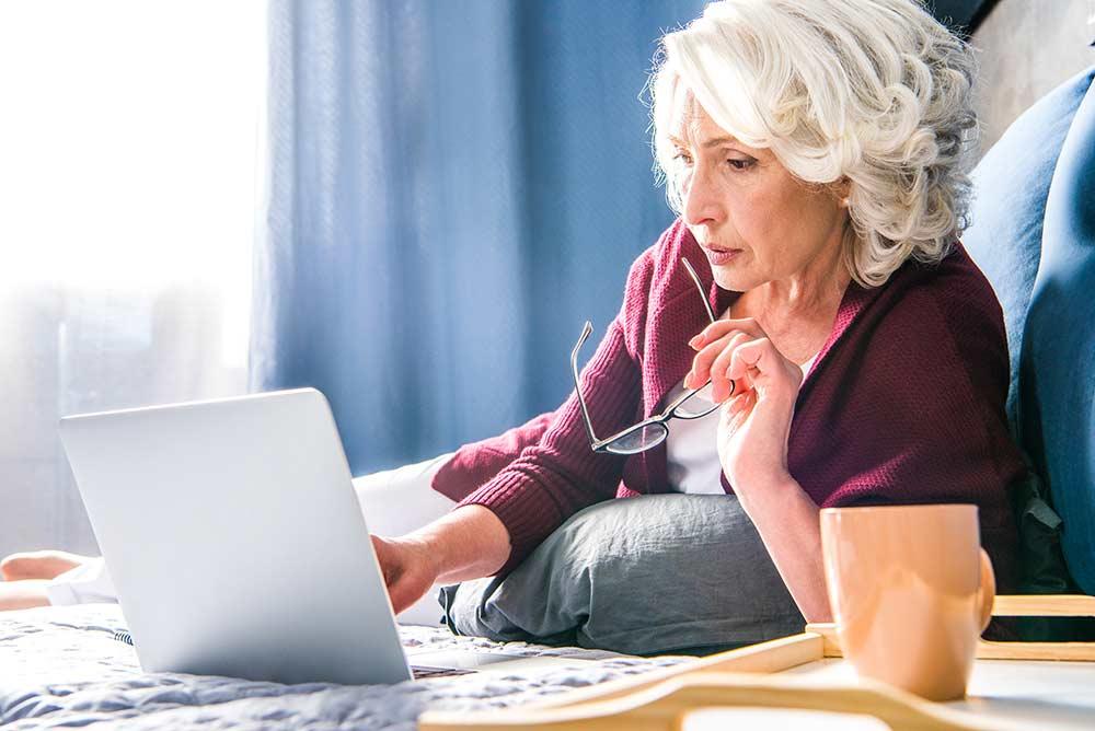 Older woman comparing medicare supplement plans
