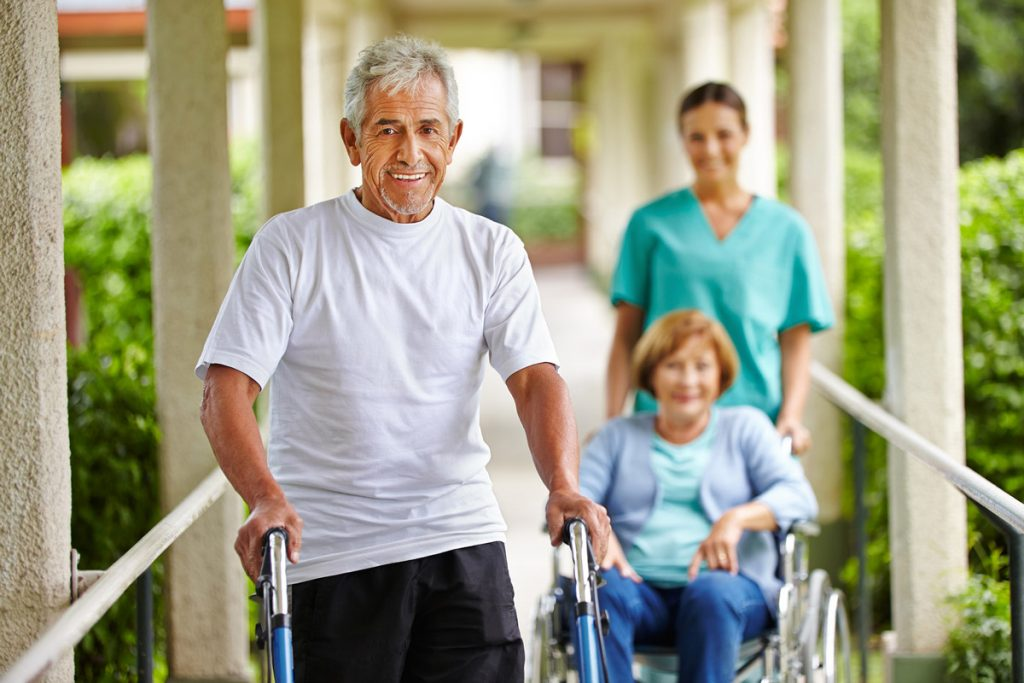Senior People refusing home care and happily leaving for home