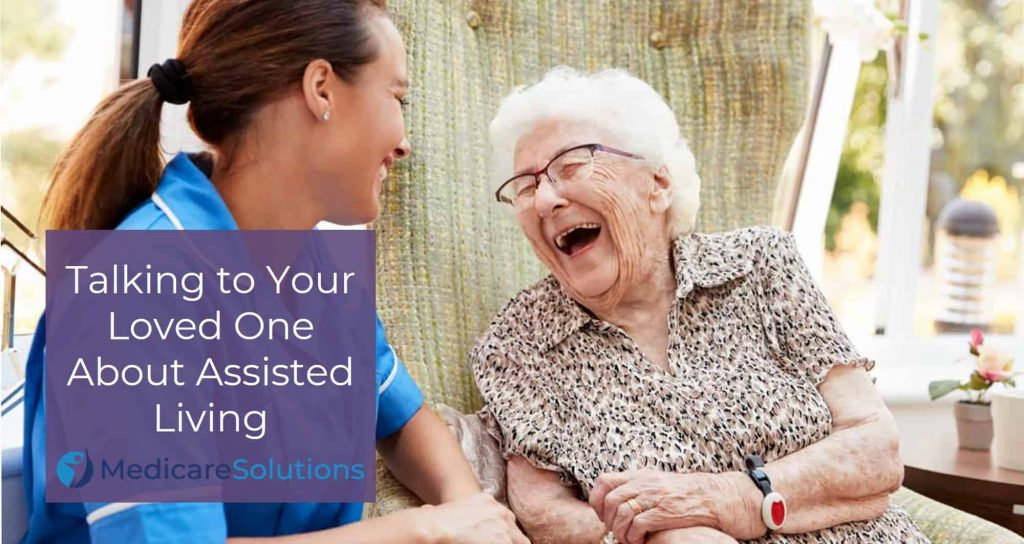 Laughing woman in an assisted living facility