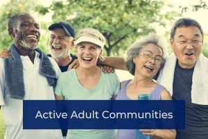 Active adult communities residents having fun